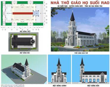 Nhà Thờ Giáo Họ Suối Rao - Xã Suối Rao - Huyện Châu Đức - Tỉnh Bà Rịa Vũng Tàu